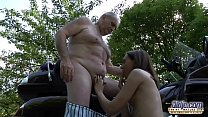 10055 OLD YOUNG PORN - Grandpa Fucks Teen Hardcore blowjob young girl pussy preview