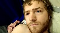 Young Ginger Strokes Big Dick