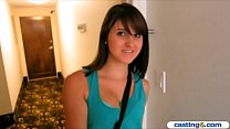 Amateur teen cutie puts out for money at this fake casting