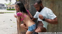 Gorgeous babe BBC fucked in broad daylight in p...