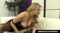 femdom milf julia ann teases a slave cock with stockings! ⁃ 89 sex thumbnail