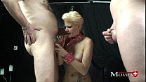 Young Scarlet satisfied on the cross of lust from Germany Vorschaubild