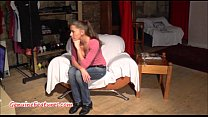 19yo czech c hick shows her naked body at the casting