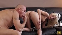 DADDY4K. Mature businessman cums in blonde's mouth to finish hot sex صورة