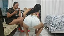 Paty cornered the young girl in the corner of t...