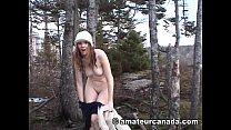 Sabrina brunette Canadian amateur naked outdoor...