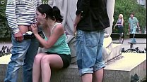 Screenshot Cute Teen Girl Fucked By 2 Guys In Public In Ce