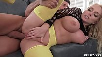 Voluptuous Big Tit MILF Takes A Big Cock In Her Ass After Titty Fucking And Anal Beads