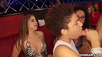 Girls Suck Huge Cock at CFNM Party