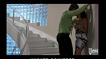 Allie Haze is carried out of the rain & into be...