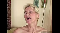 Grandma cums on young dick
