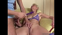 Grandma cums on young dick preview image