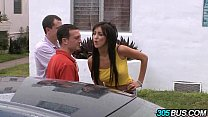 Hottest Brunette Pornstar Breanne Benson Takes Two Dicks 1.2