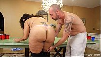BBW MILF Sofia Rose Plays Beer Pong For Sex's Thumb