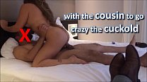 being a whore on her cousin's dick to drive her horny cuckold crazy - perverse family - complete on red
