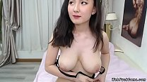 Asian camgirl with perfect breast