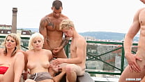 bi group orgy outdoor thumb
