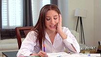 Nerdy tutor and her client lick each other out - Abella Danger and Avi Love