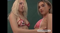 Threesome with two blonde chicks and a big cock GB-5-03