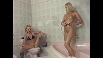 Two sexy blonde chicks take a shower