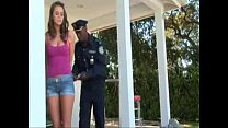 Babe interracial Forced fuck by Police Officer video