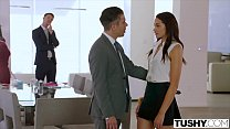 TUSHY Assistant Gets DP'd By Boss And Friend Preview