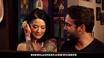 SheWillCheat - Tatted Wife Cheats On Old  Husba...