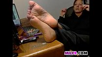 Mom Showing Off Her Feet And Smokes's Thumb