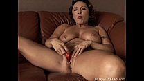 Gorgeous granny with nice big tits fucks her juicy pussy for you preview image