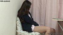 Japanese schoolgirl take off the panties and dildo masturbation