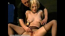 Bizarre humiliation of Cherry Torn in painful bdsm and hardcore degradation of b