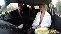 Fake Driving School Blonde Polish babes pussy gets slammed thumbnail