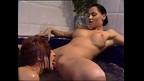 Amazing pussy licking in the jacuzzi for two le...