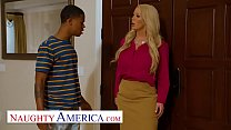 Naughty America - MILF fucks sons bully in exchange for his protection thumbnail