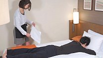 Subtitled Japanese hotel massage leads to blowjob in HD - 9Club.Top