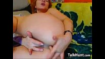Horny Redhead Fingers Her Pussy And Ass