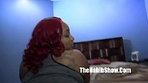 thick phat redbone layla red taking hairy paki dick