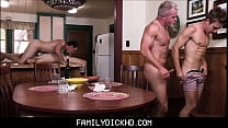 Step Dad And Grandpa Group Sex With Two Twink Step Son's During Family Bonding Time