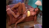 Perfect brunette babe with nice boobs Kelsey gets her asshole and twat drilled from the back