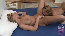 Blonde lesbians Cindy Hope and Blue Angel preview image