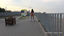 Naked ride gyroscooter in public Vorschaubild
