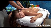 Hot eighteen year old babe gets drilled hard by her massage therapist