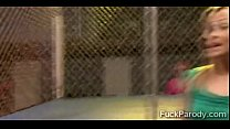 Hot Wrestler Gets In The Cage With A Guy To Struggle With His 2014-3Min-Render-6