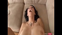 Busty milf in bikini sucks a big dick and gets ...