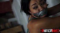 Innocent ebony teen Adriana Maya tastes rough bdsm fucking thumbnail