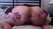 Florence Dixon spreading a gaping ass wide for fucking