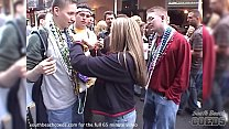some girls flashing in this mardi gras new orleans home video