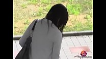 Sexy Japanese gal in a nasty public sharking video