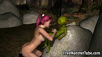 Foxy 3D redhead sucking on Yoda rock hard cockof-high 2