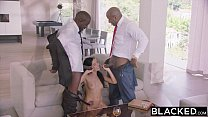 BLACKED Hot Megan Rain Gets DP'd By Her Sugar Daddy and His Friend صورة